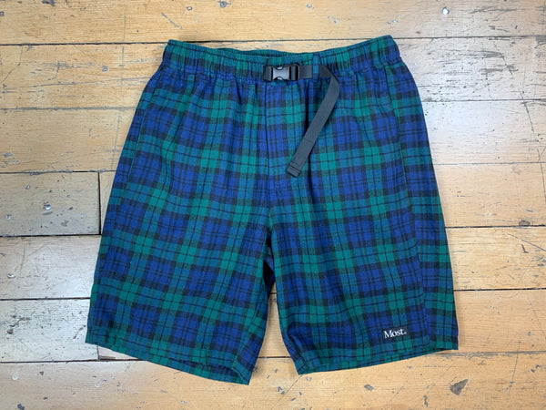 Tartan Shorts - Navy/Green