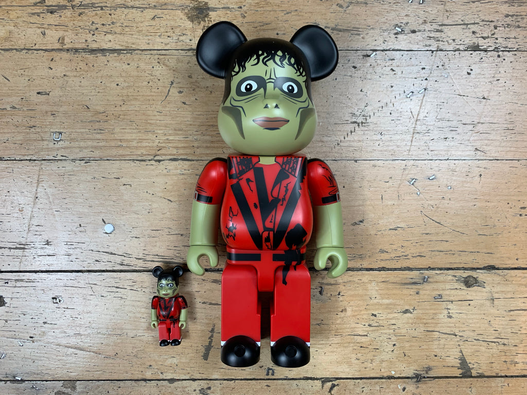 BE@RBRICK Michael Jackson Thriller Zombie 400% + 100%