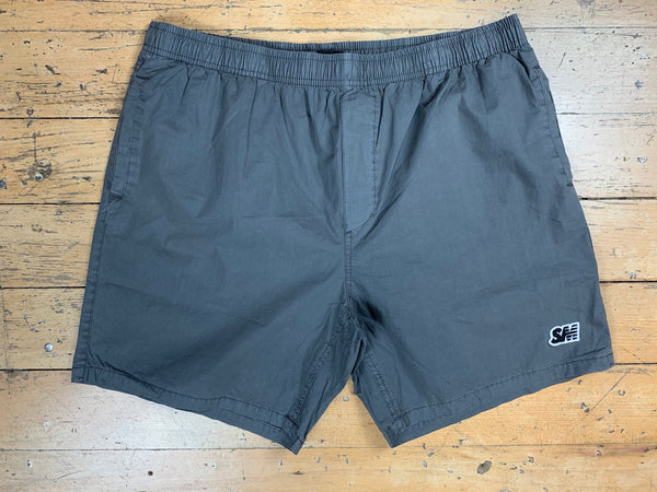 SM Logo Beach Shorts - Grey