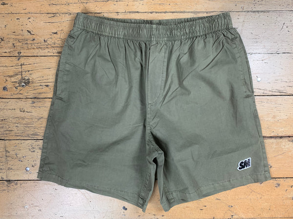 SM Logo Beach Shorts - Khaki Green