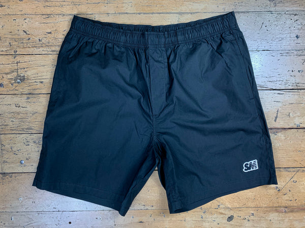 SM Logo Beach Shorts - Black