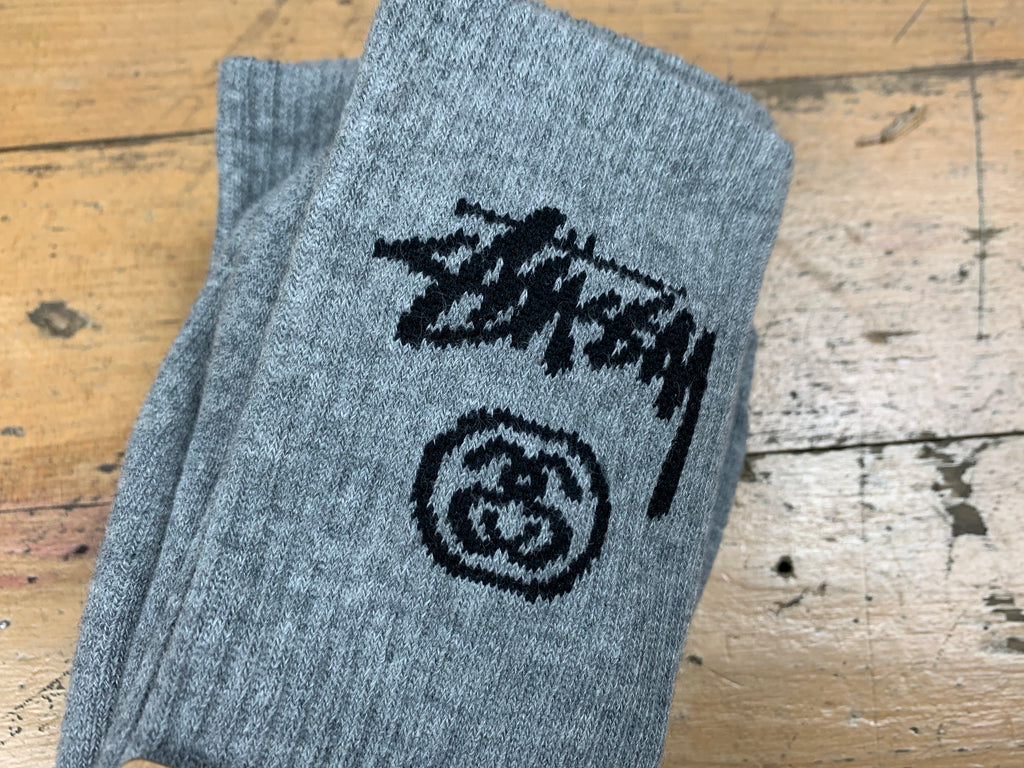 Stock Crew Socks 3pk - Grey