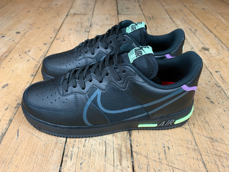 Air Force 1 React - Black/Anthracite/Violet Star