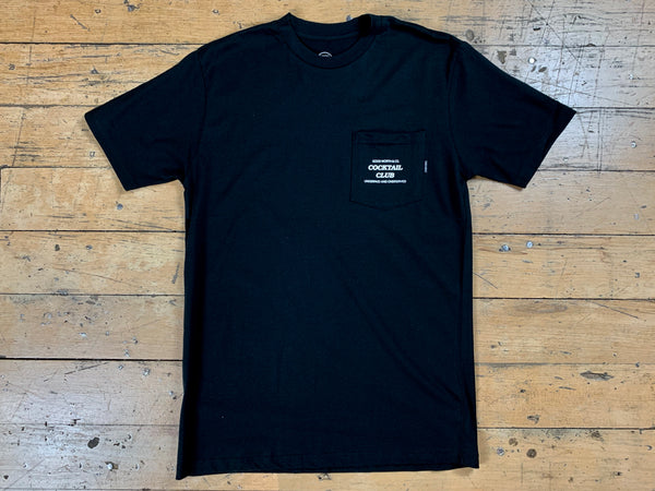 Cocktail Club Pocket T-Shirt - Black
