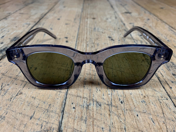 Apollo - Cement Acetate / Oak Lens / Silver Hardware