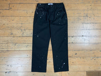 Splatter Work Pants - Black