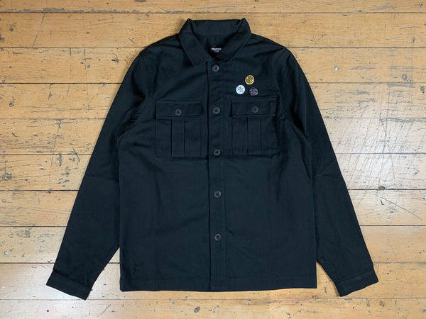 Worker Jacket w/ Pin Badges - Black