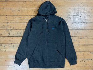 SM Mini Logo Zip Hood - Charcoal / Navy