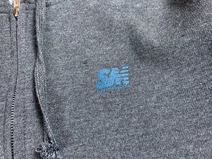 SM Mini Logo Zip Hood - Charcoal