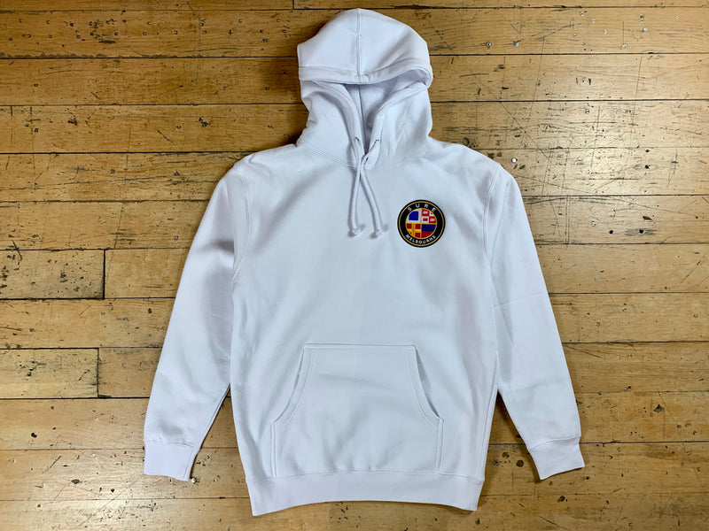 Badge Logo Heavy Hood - White
