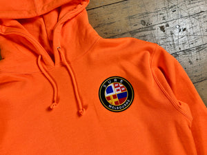 Badge Logo Heavy Hood - Safety Orange