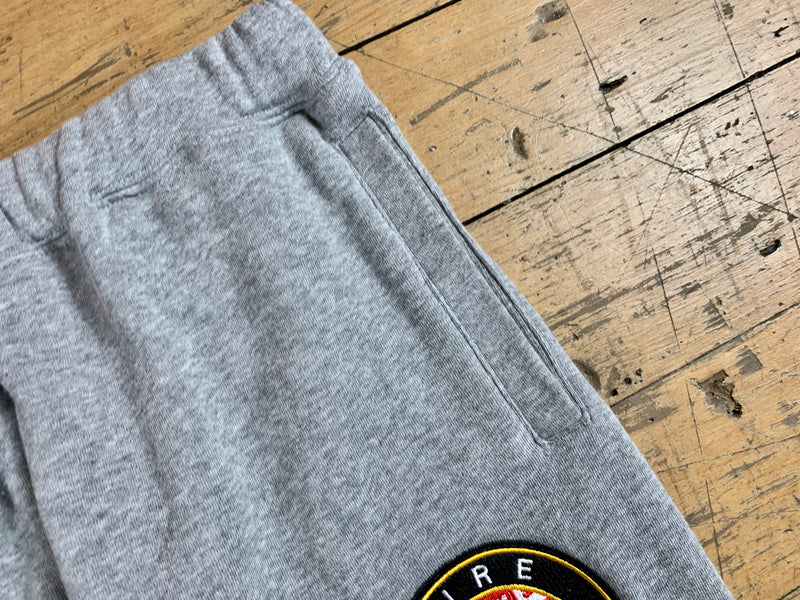 Badge Logo Track Pants - Grey Marle