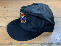 Badge Logo Surf Cap - Black