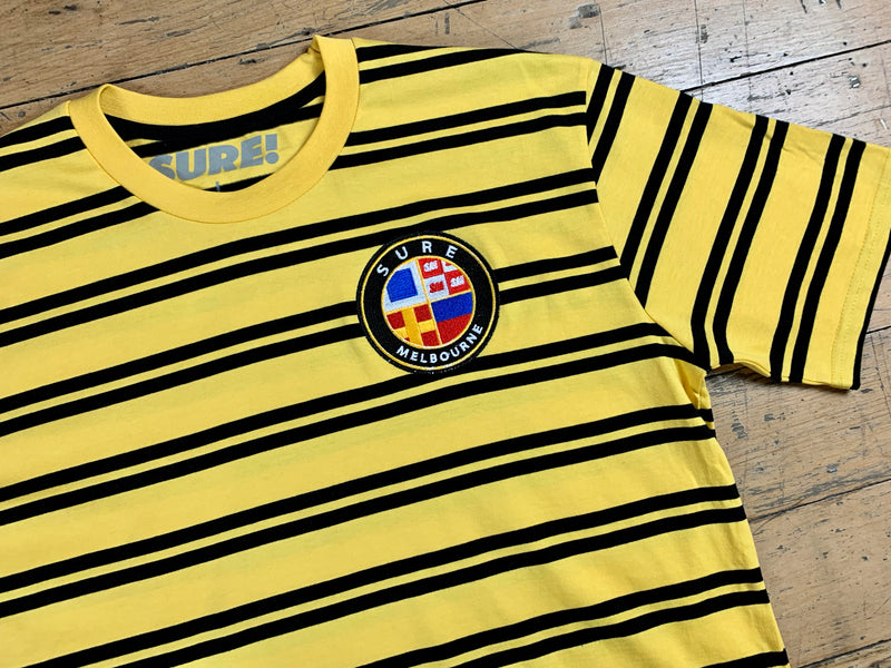 Badge Logo Stripe T-Shirt - Yellow / Black