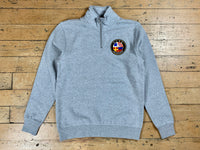 Badge Logo 1/2 Zip Fleece - Grey Marle