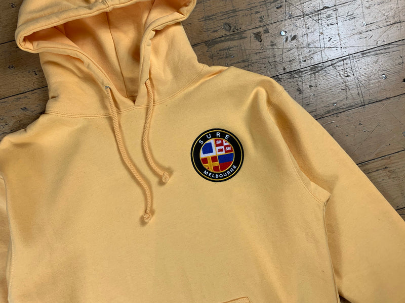 Badge Logo Heavy Hood - Peach
