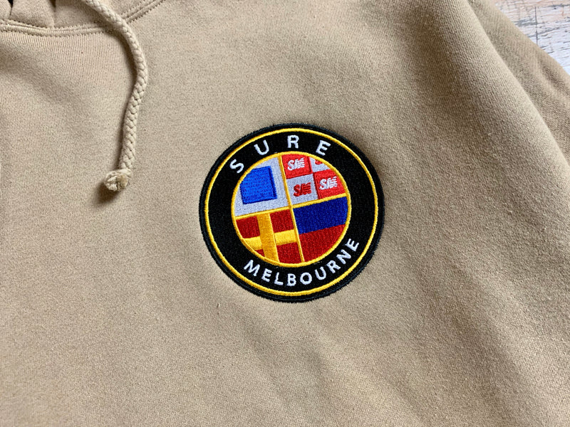 Badge Logo Heavy Hood - Sandstone