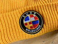 Badge Logo Beanie - Gold