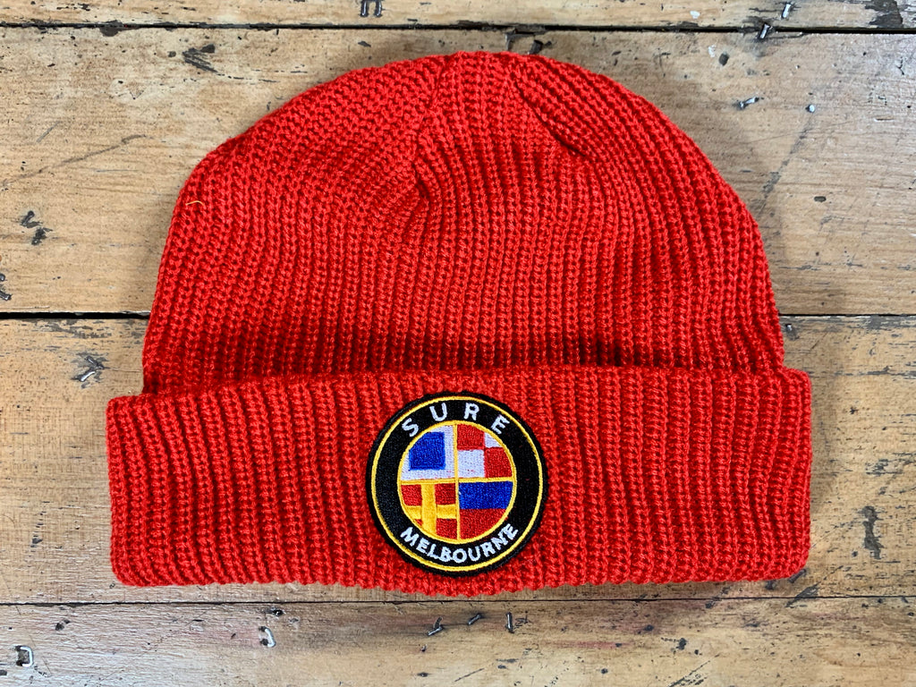Badge Logo Beanie - Red