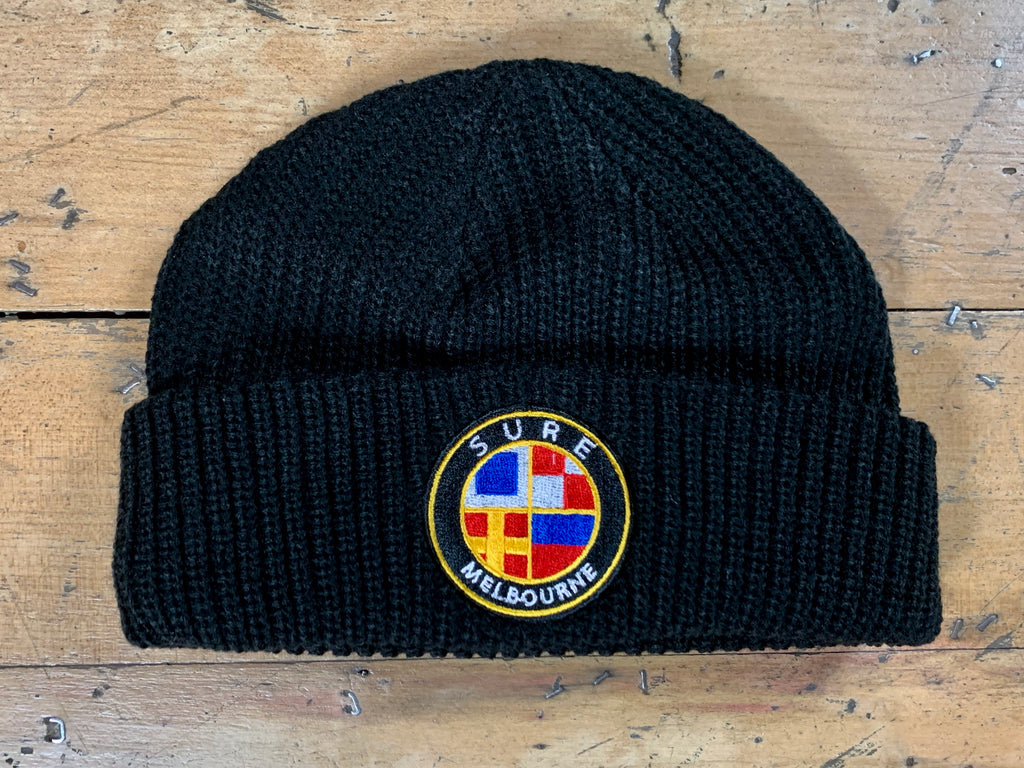 Badge Logo Beanie - Black