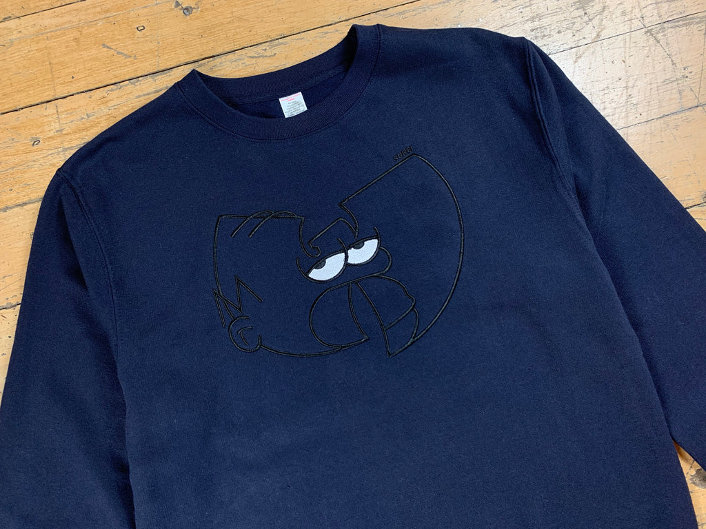 Wu-mer Embroidered Crew - Navy