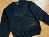 It's Time Inside Out Crewneck - Black