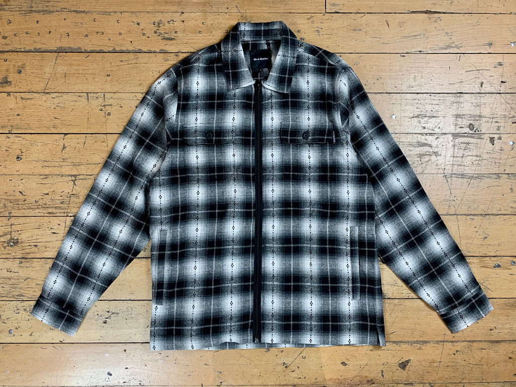 Industrial Shirt Jacket - Black / Grey