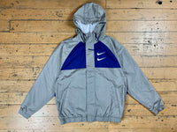 Nike Sportswear Swoosh Jacket Hood Woven - Grey / Royal