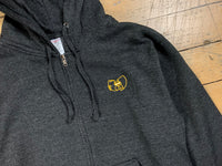 Wu-mer Embroidered Zip Hood - Charcoal