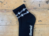 Barb Wire Half Socks - Black