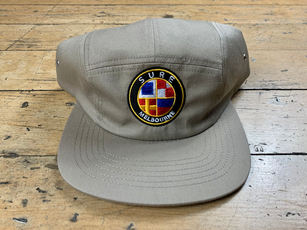 Badge Logo 5 Panel Cap - Khaki