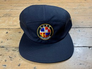 Badge Logo 5 Panel Cap - Navy