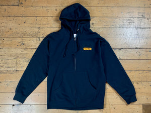 Heartbeat Zip Hood - Navy