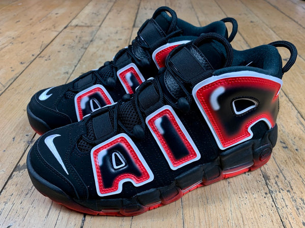 Air More Uptempo '96 - Black/White/Laser Crimson