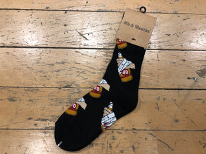 40s Hands Socks - Black
