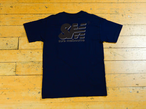 SM Shadow T-Shirt - Navy / Black / Grey