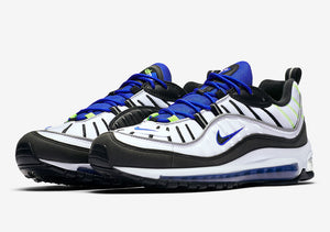 Air Max 98 - White/Black Racer/Blue Volt