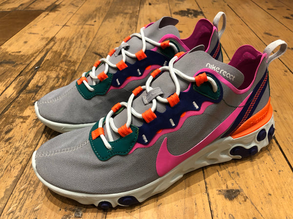 Women's React Element 55 - Wolf Grey / Laser Fuchsia