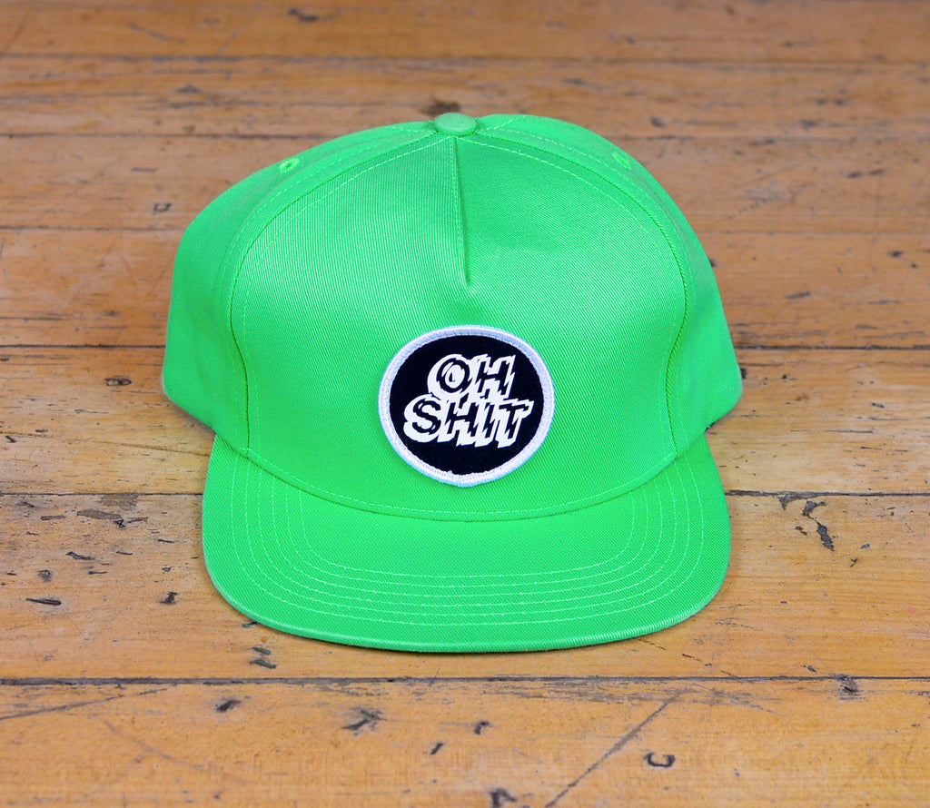 Oh Shit Snapback - Lime