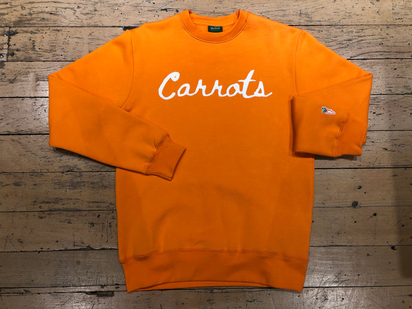 Cursive Wordmark Crewneck - Orange