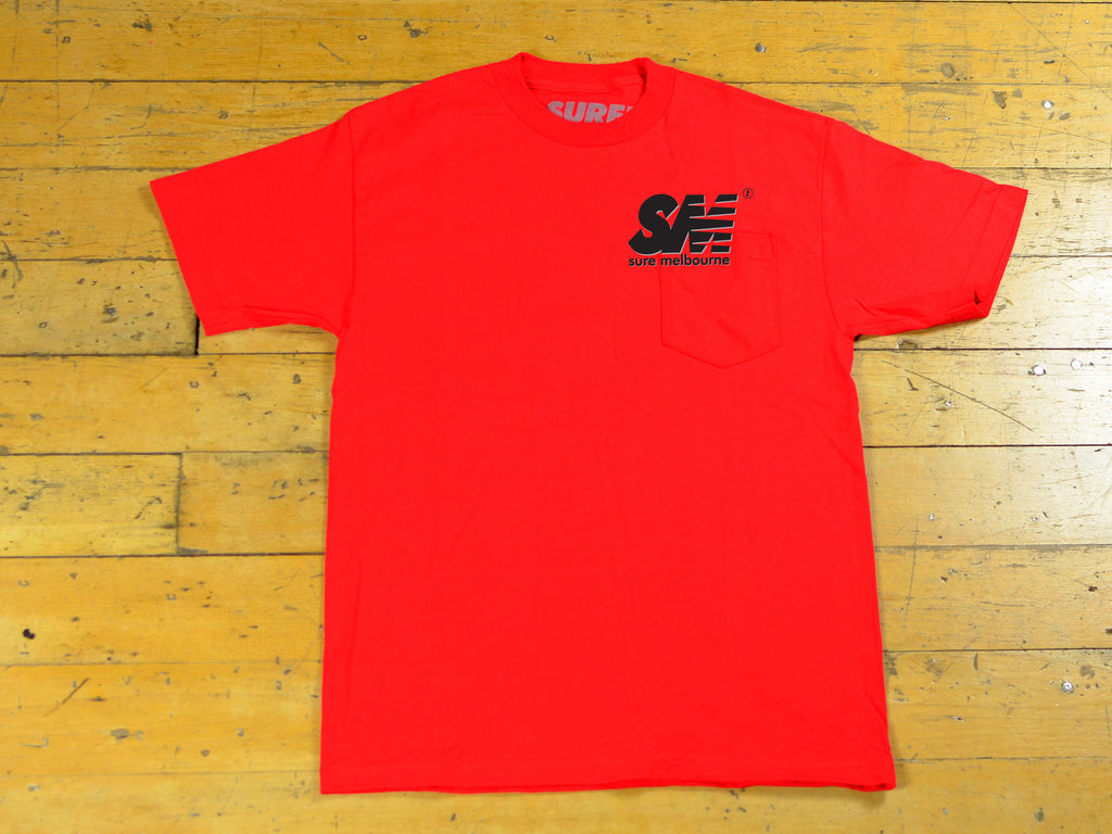 SM Shadow T-Shirt - Red / Black / Grey