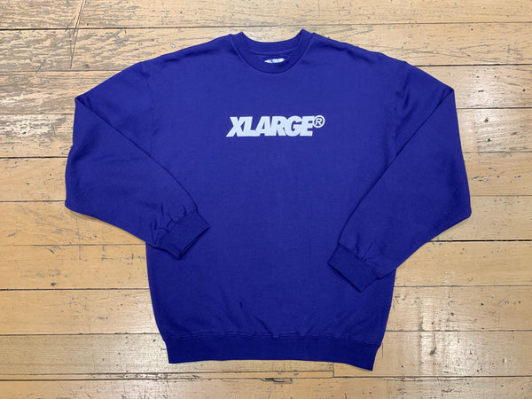 XL Text Crew - Navy