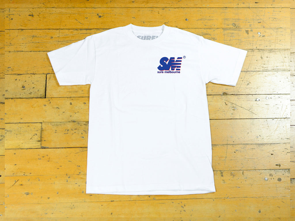 SM Shadow T-Shirt - White / Navy / Red