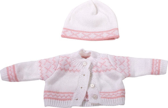 Gotz doll cardigan and beanie 42cm