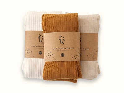 Karibou Ribbed cotton blend tights