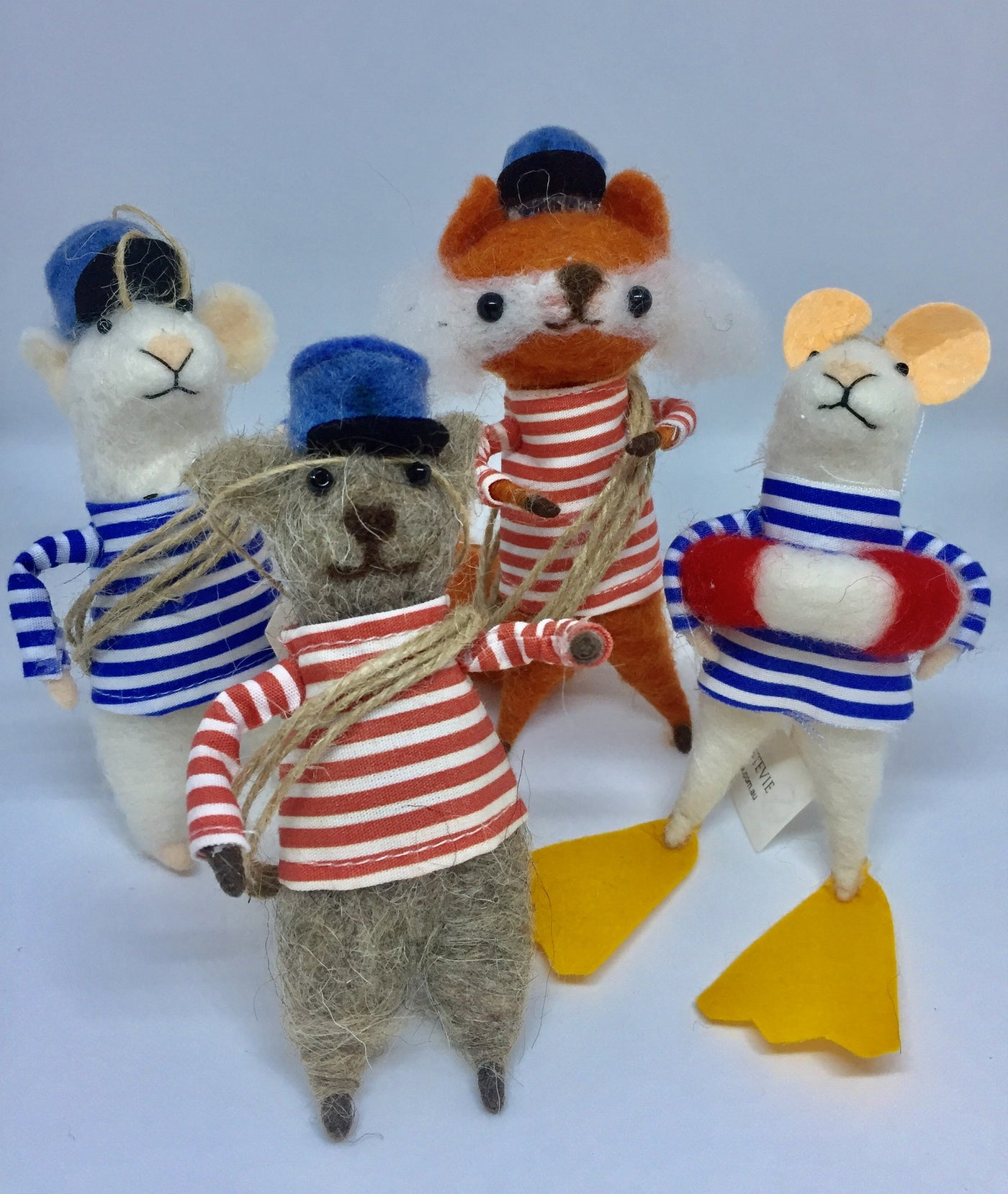 Seaside animals 4 pcs
