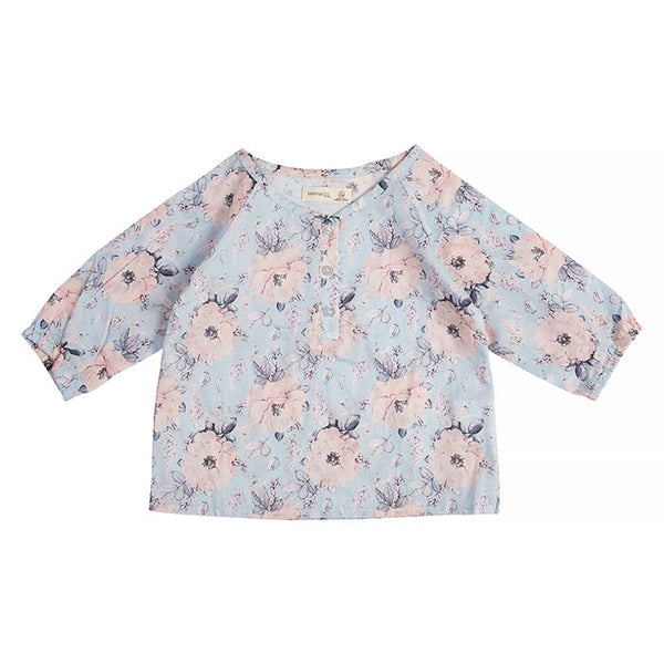Miann & Co Rose Print Flowy Long Sleeved Top baby