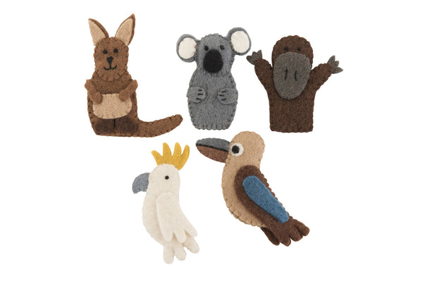 Pashom Felt Australian native animal finger puppets