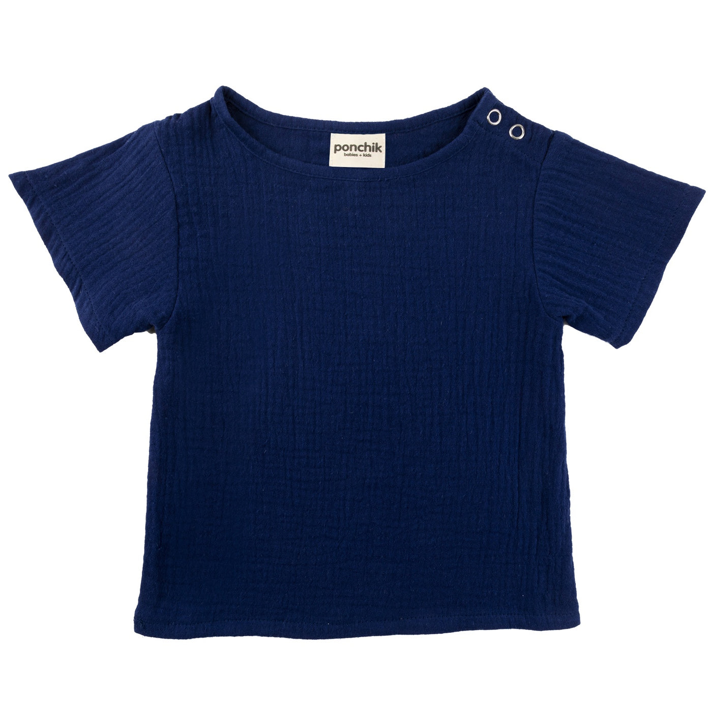 Ponchik cotton t shirt muslin French navy