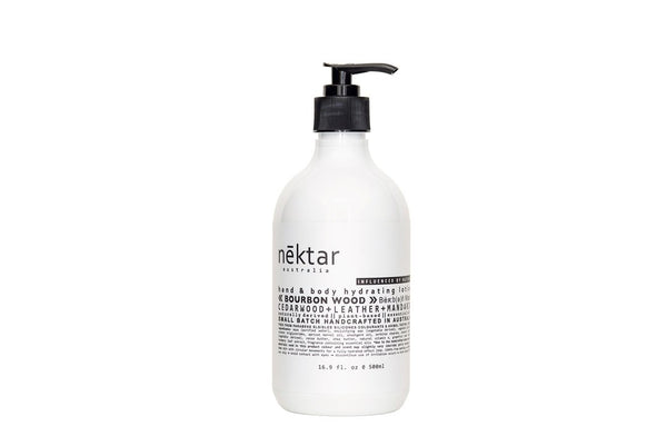 Nēktar Bourbon Wood hand & body hydrating lotion